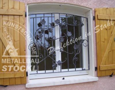 Kunstschmiede Fenstergitter....